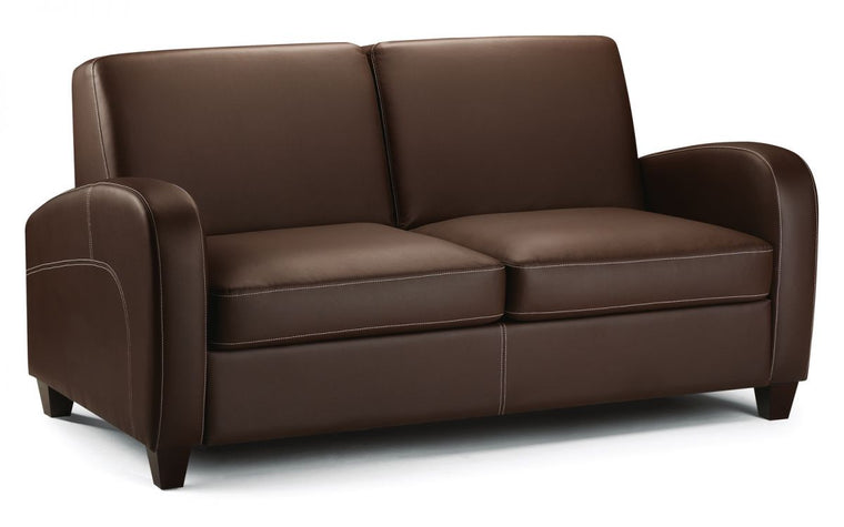 Julian Bowen Vivo Sofa Bed in Chestnut Faux Leather