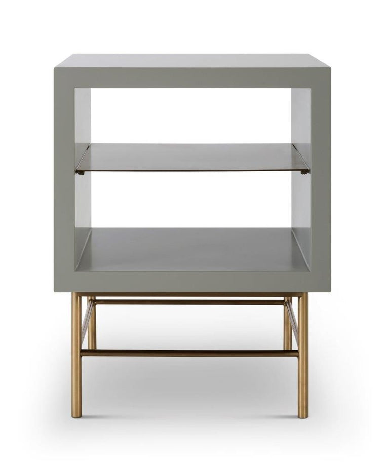 Gillmore Space Alberto Side Table Grey With Brass Accent