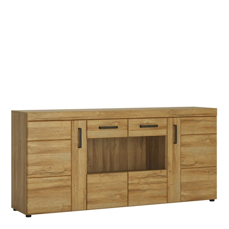 Axton Bronxwood Cortina 4 Door Wide Glazed Sideboard in Grandson Oak