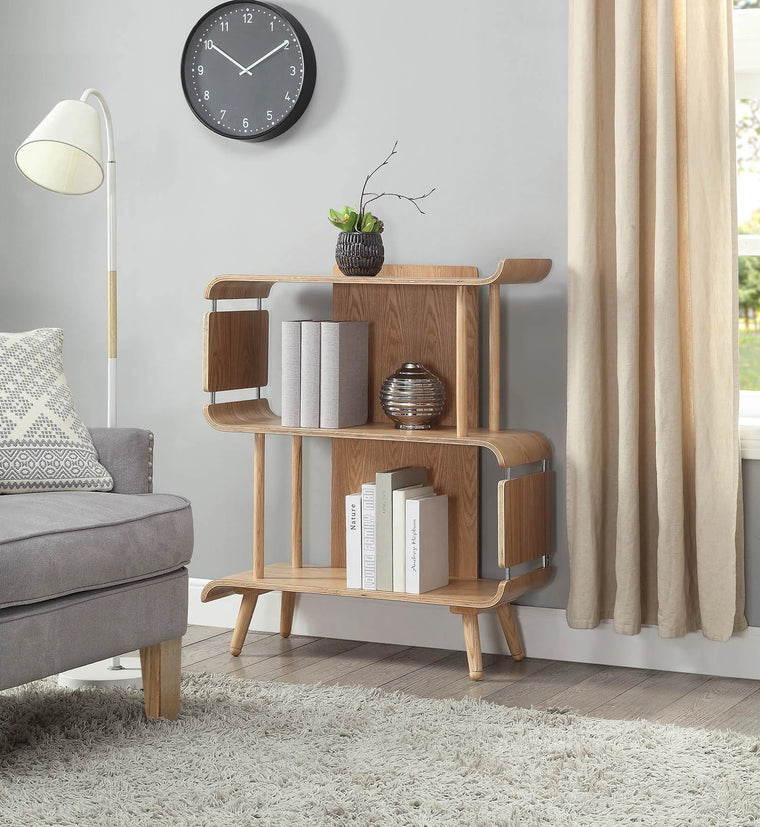 Jual Furnishings San Francisco Short Oak Bookcase