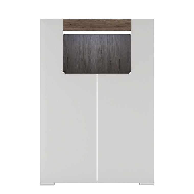 Axton Bronxdale Low 2 Door Cabinet With Open Shelf (inc. Plexi Lighting)