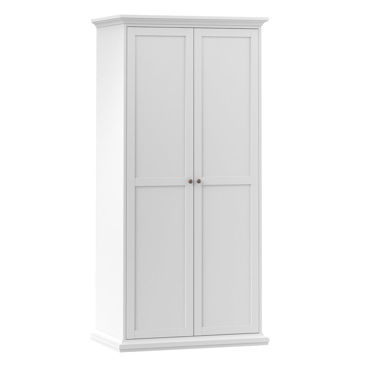 Axton Westchester Wardrobe with 2 Doors in White