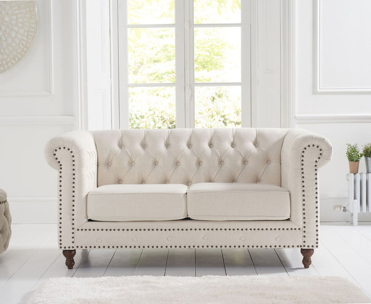 Mark Harris Montrose Ivory Linen 2 Seater Sofa