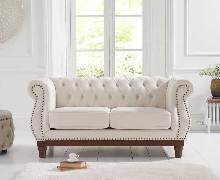 Mark Harris Highgrove Ivory Linen 2 Seater Sofa