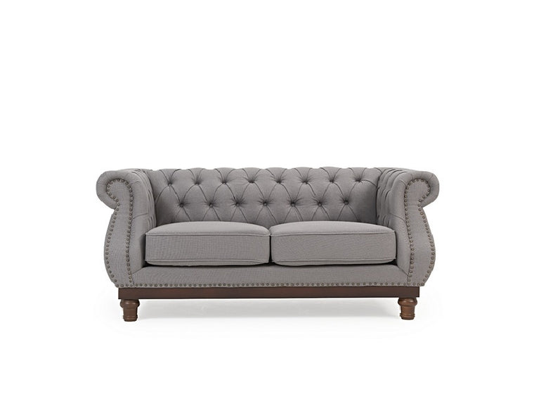 Mark Harris Highgrove Grey Linen 2 Seater Sofa