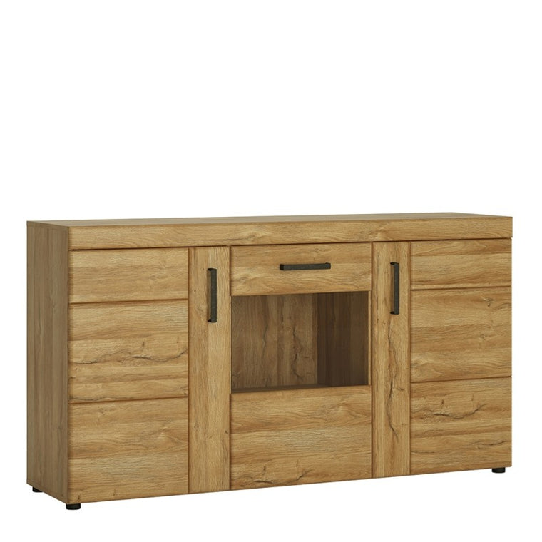 Axton Bronxwood Cortina 3 Door Glazed Sideboard in Grandson Oak