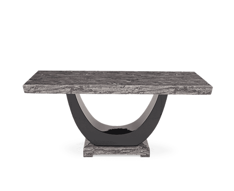 Mark Harris Rivilino 200cm Dark Grey Marble Dining Table