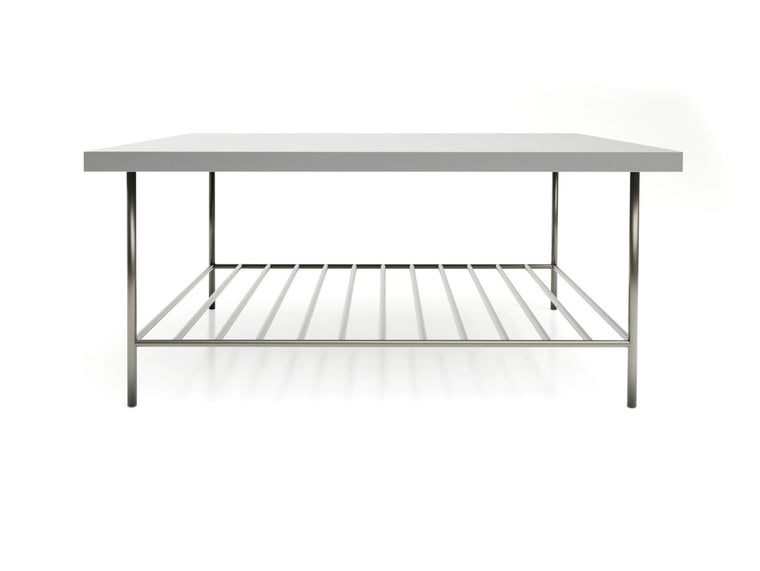Gillmore Space Alberto Square Coffee Table Grey With Dark Chrome Accent