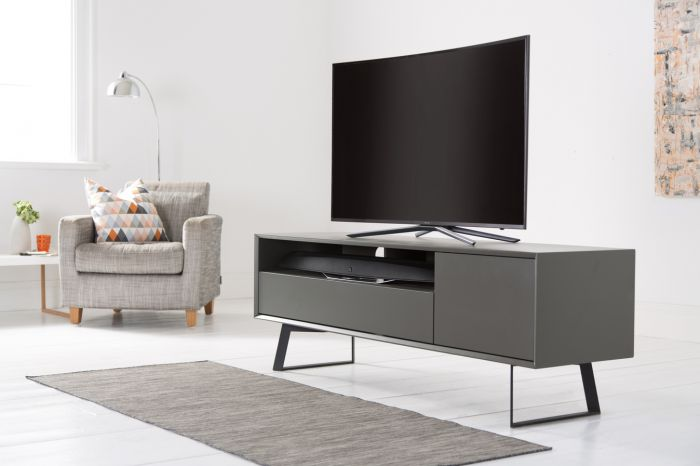 Alphason Carbon Grey TV Media Stands 1600