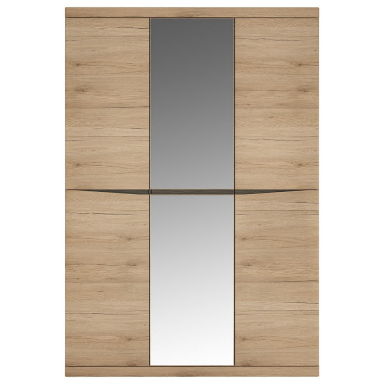 Axton Eastchester 3 Door Wardrobe With Centre Mirror Door In Oak