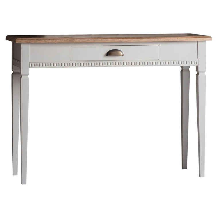 Hudson Living Bronte 1 Drawer Console Table Taupe