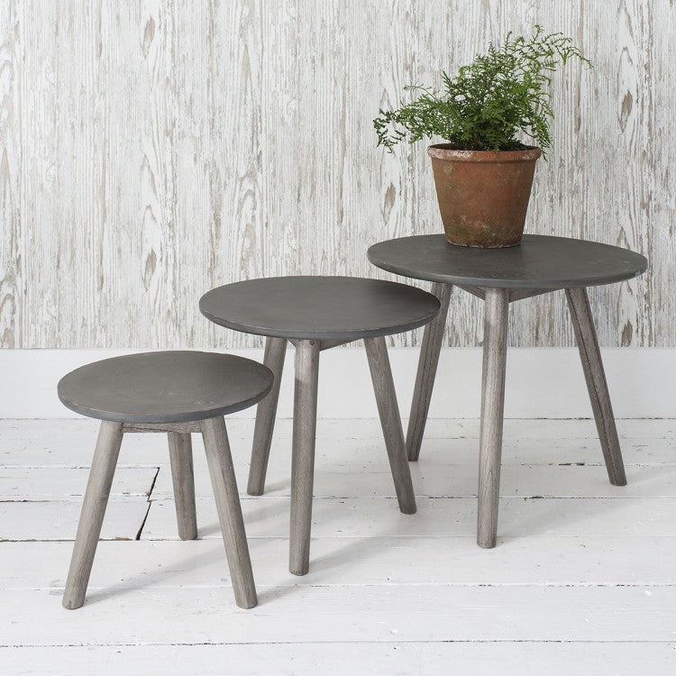 Hudson Living Bergen Nest Of Tables Grey