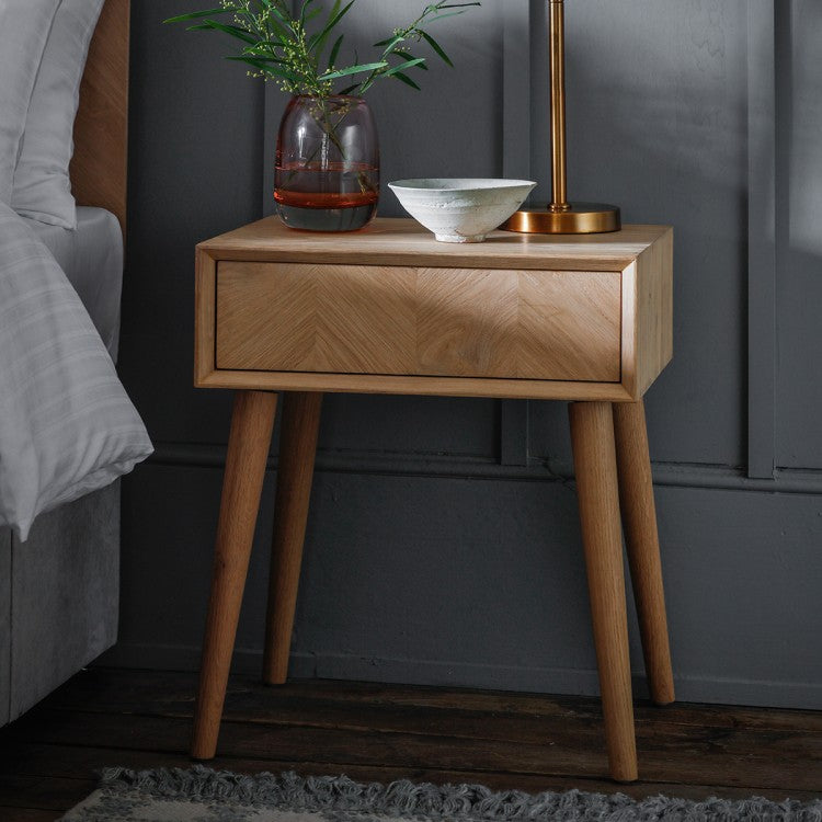 Hudson Living Milano 1 Drawer Side Table