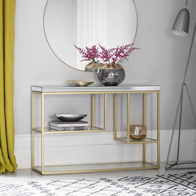 Hudson Living Pippard Console Table Champagne