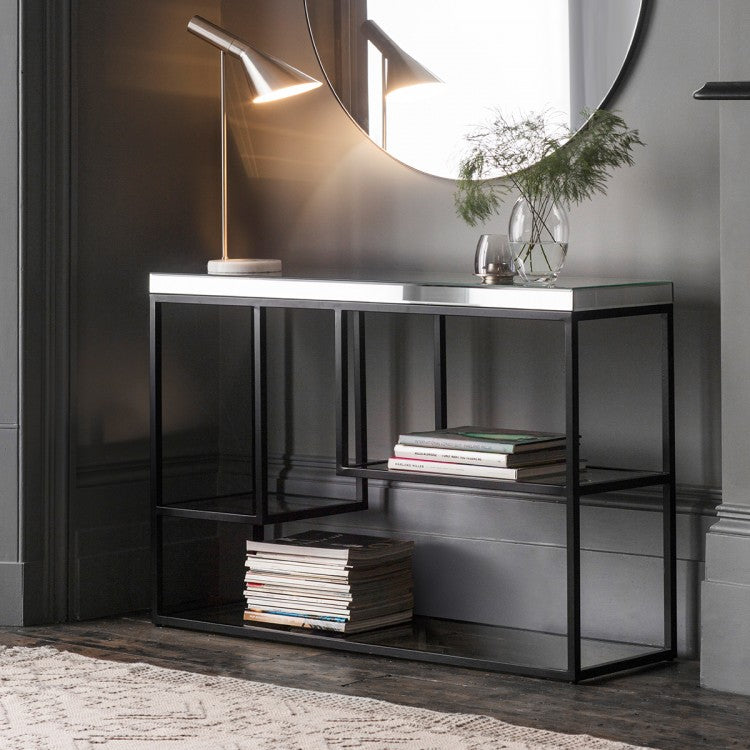 Hudson Living Pippard Console Table Black