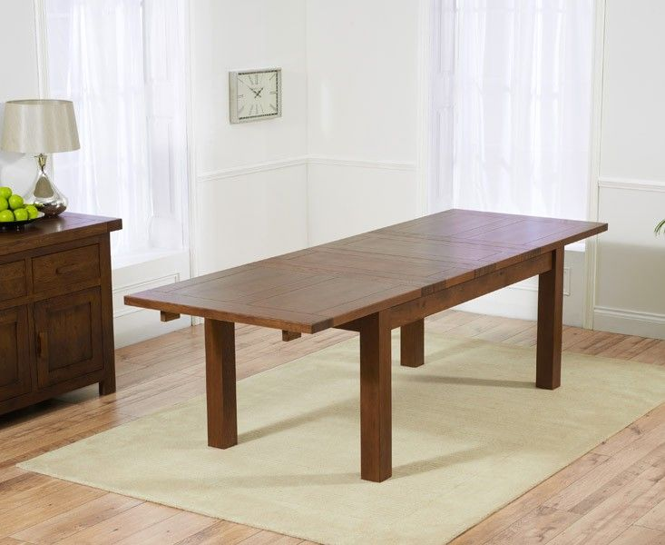 Mark Harris Rustique Dark 180cm Extending Dining Table