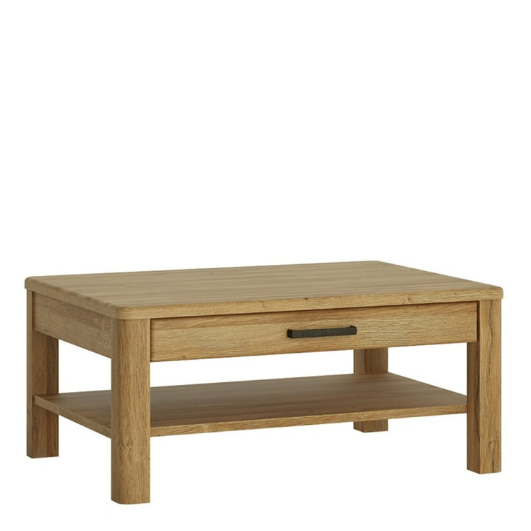 Axton Bronxwood 1 Drawer Coffee Table In Grandson Oak