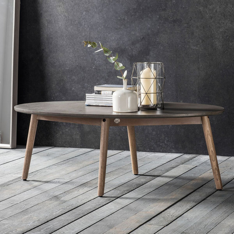 Hudson Living Bergen Oval Coffee Table