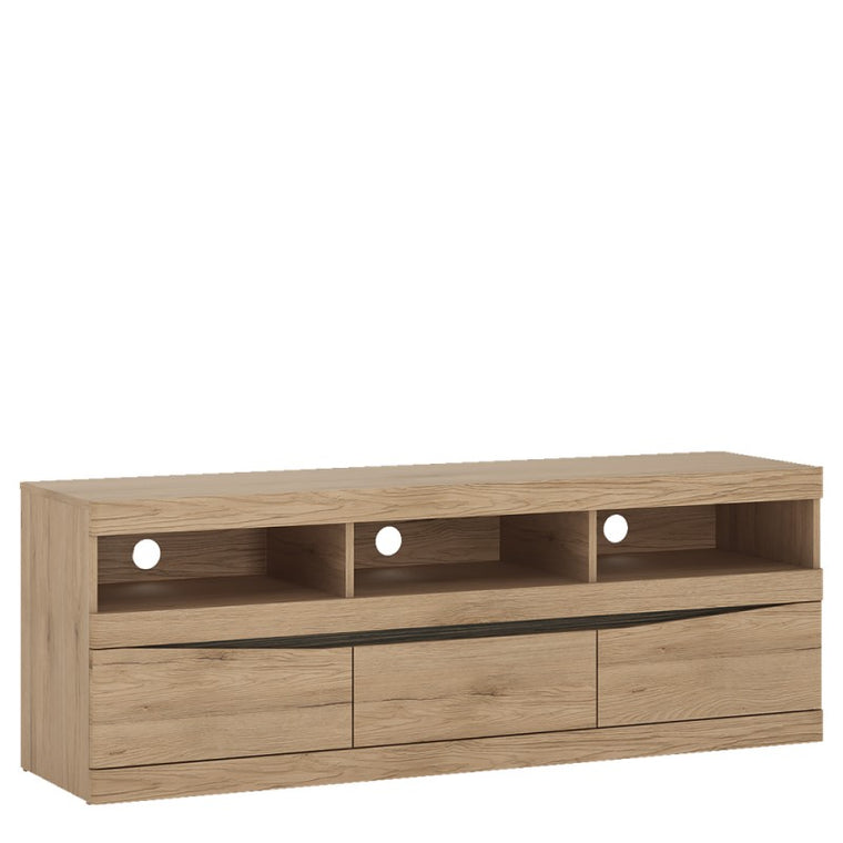 Axton Eastchester Wide 3 Drawer TV Unit  In Oak