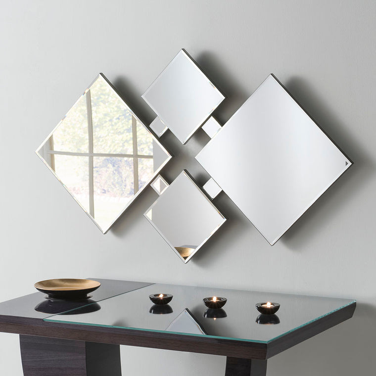 Yearn Art Deco ART197 Black Sprayed Edge Mirror