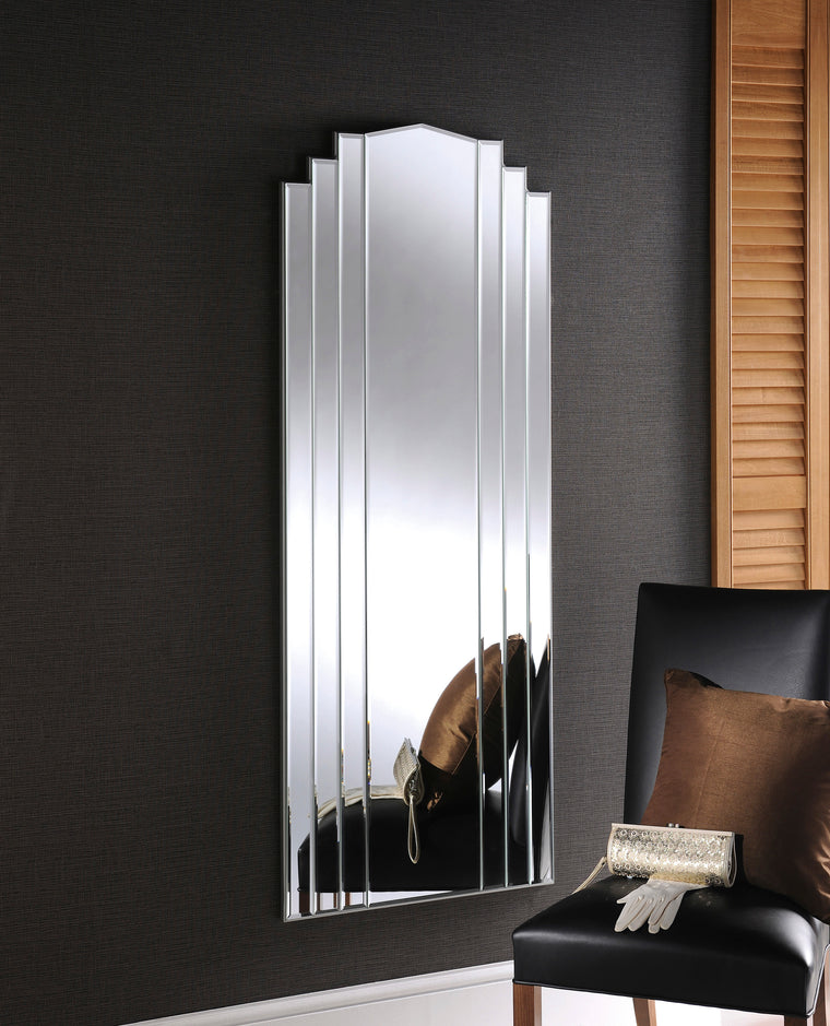 Yearn Art Deco ART42 Silver Mirror