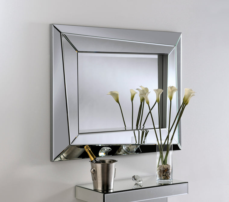 Yearn Art Deco ART605 Silver Mirror