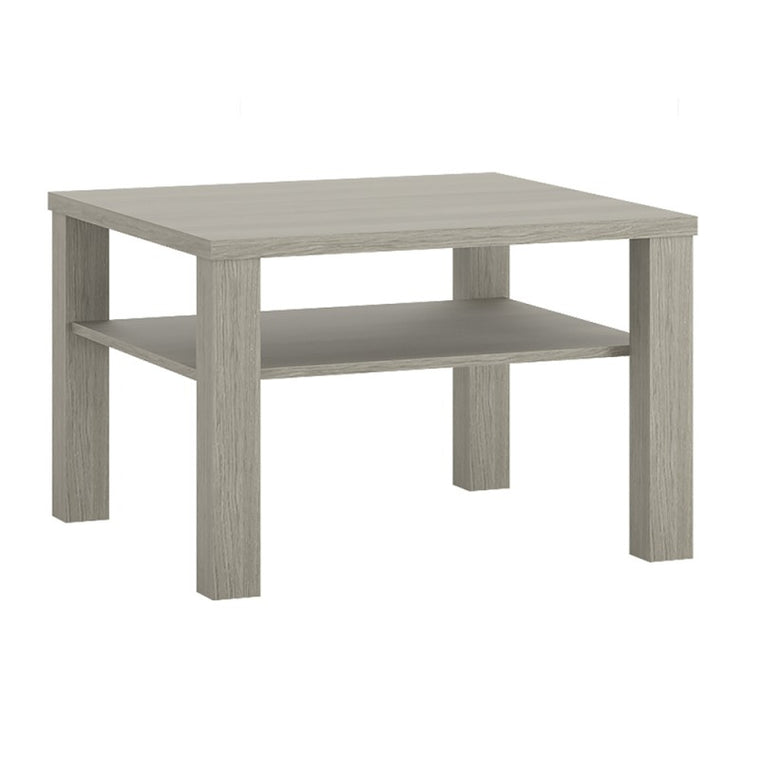 Axton Vaneste Small Coffee Table With Shelf In Champagne Melamine