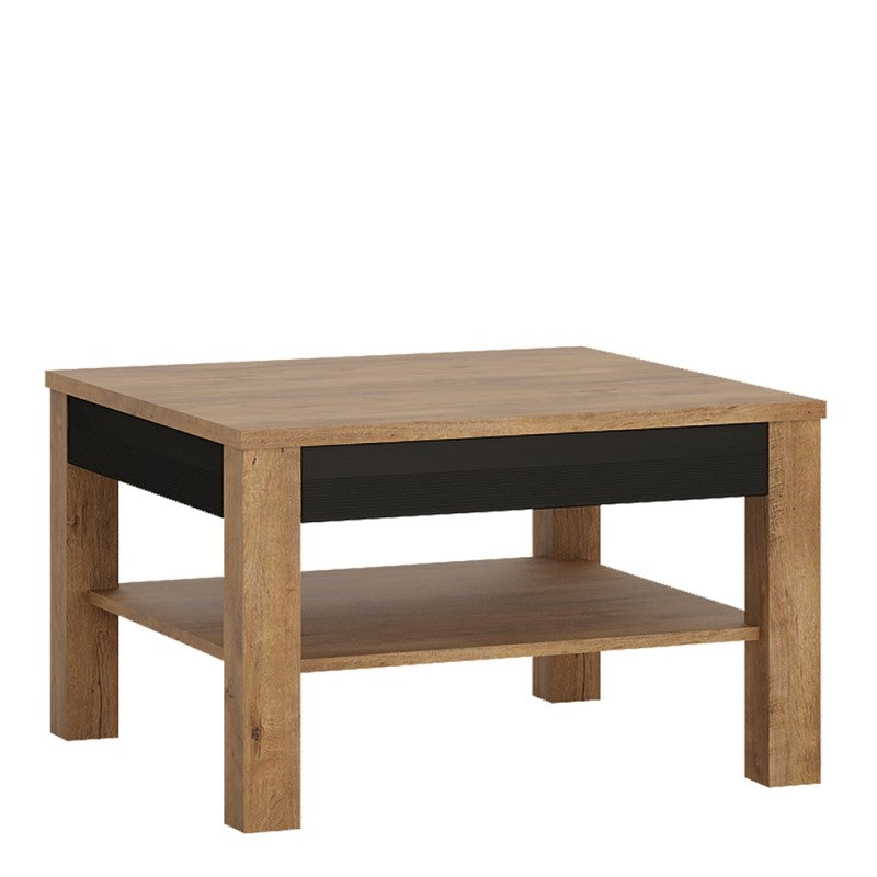 Axton Morris Coffee Table In Lefkas Oak With Matt Black Fronts Loungeliving Co Uk