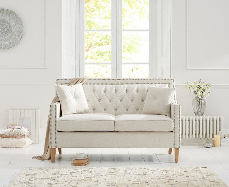 Mark Harris Casa Bella 2 Seater Ivory Fabric Sofa With