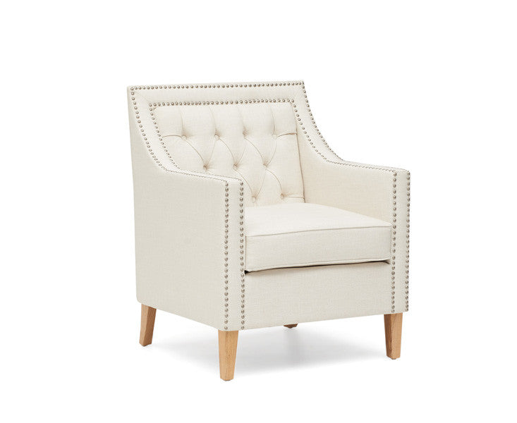 Mark Harris Casa Bella Ivory Fabric Armchair