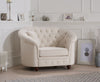 Casey Ivory Linen Arm Chair