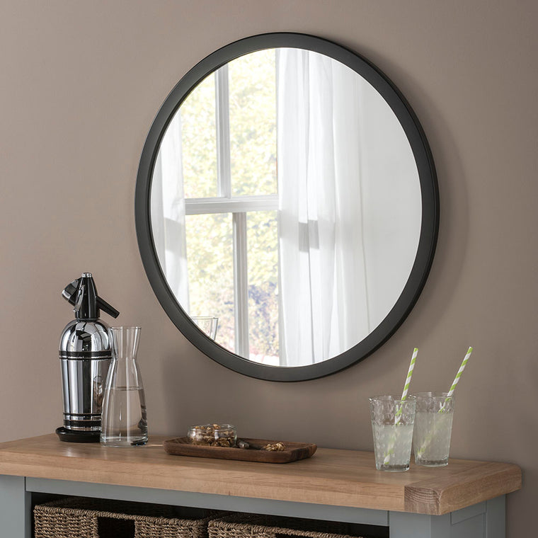 Yearn Contemporary Classic Circle Black Mirror