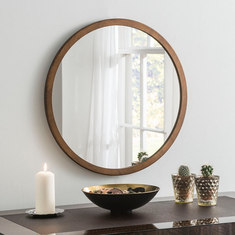Yearn Contemporary Classic Circle Bronze Mirror