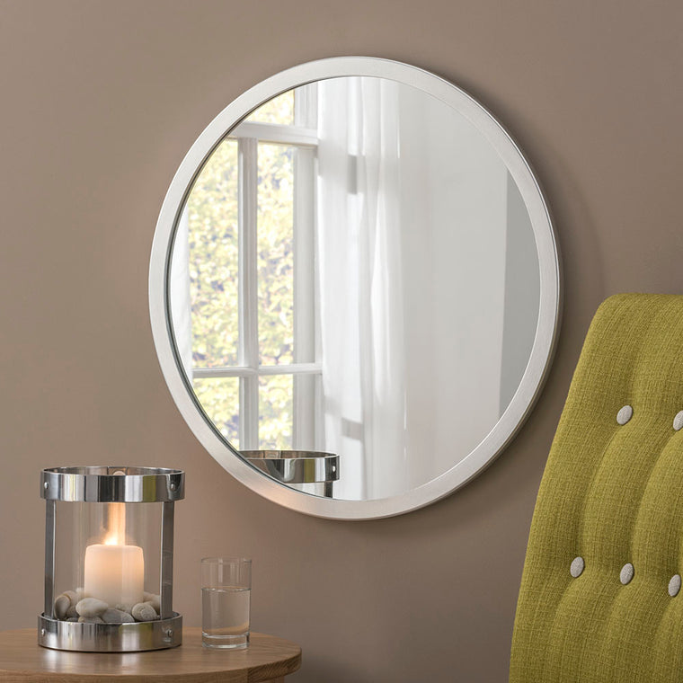 Yearn Contemporary Classic Circle Silver Mirror