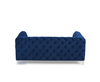 Alegra Blue Plush 2 Seater Sofa