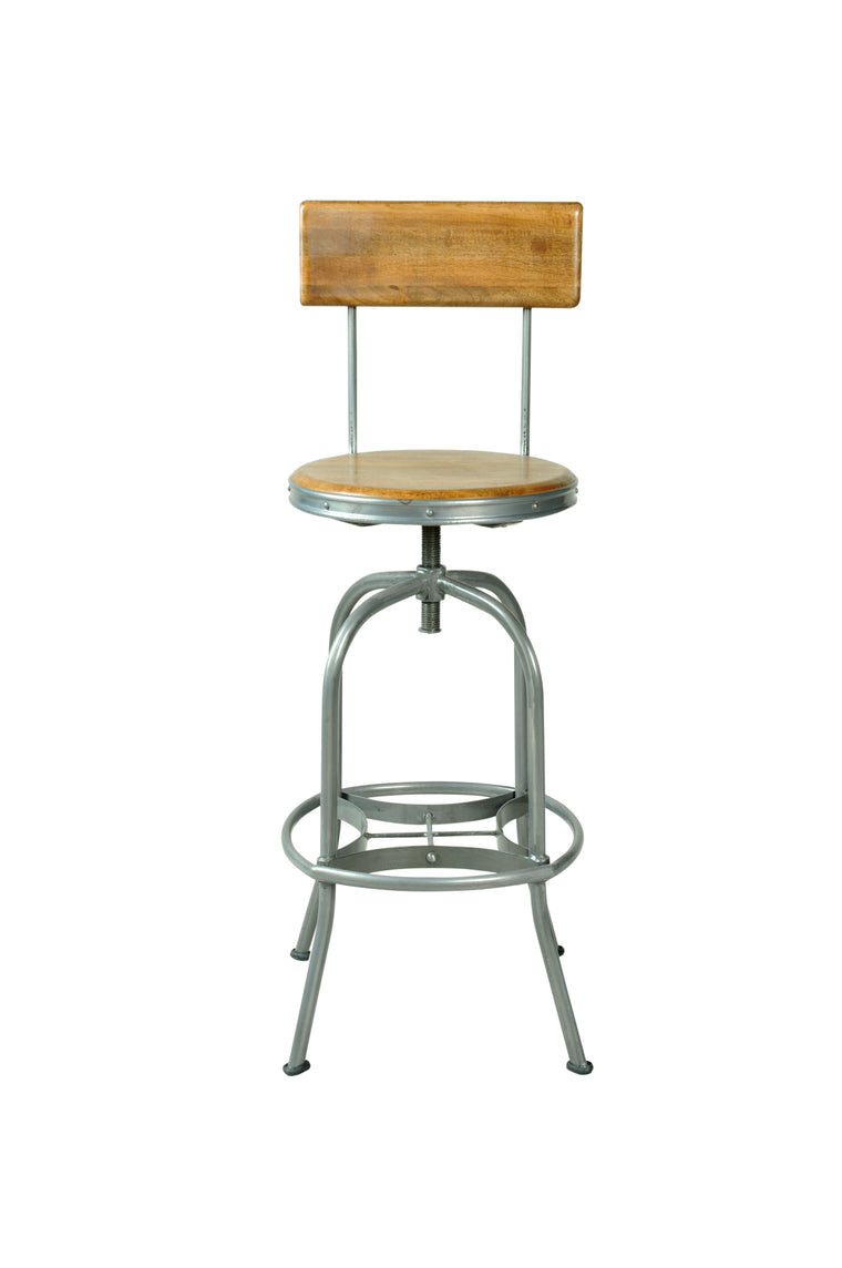 Bodiam Pendennis Bar Stool With Back Rest