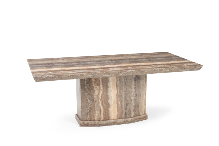 Mark Harris Como 200cm Brown Marble Dining Table