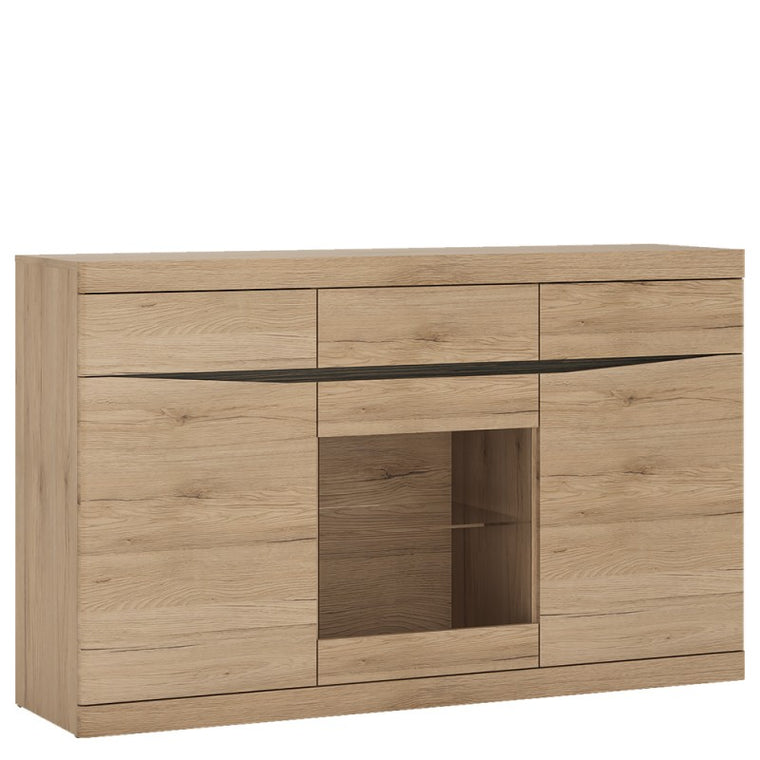 Axton Eastchester 3 Door 3 Drawer Glazed Sideboard