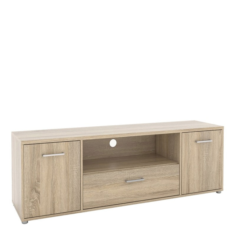 Axton Throggs Match TV Unit 2 Doors 1 Drawer 1 Shelf In Oak