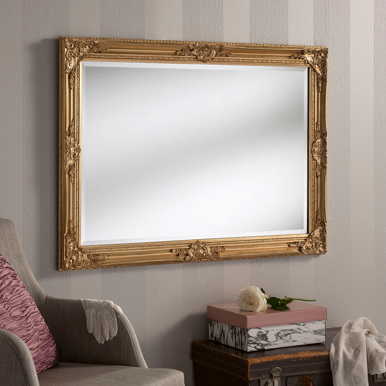 Yearn Baroque / Swept Florence Gold Leaf Mirror