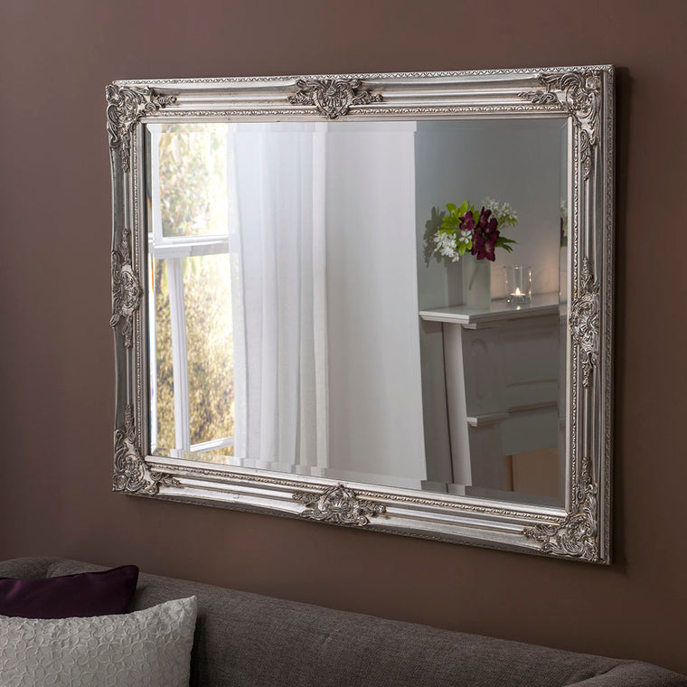 Yearn Baroque / Swept Florence Silver Leaf Mirror
