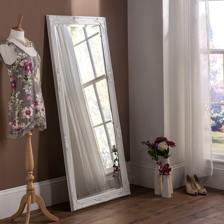 Yearn Baroque / Swept Florence Matt White Mirror