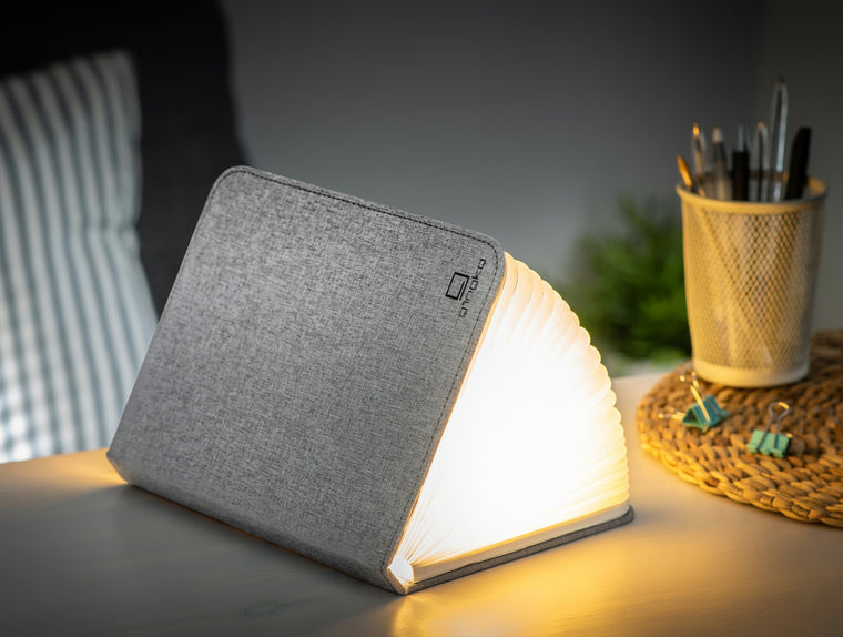 Ging-Ko Large Fabric Smart Book Light - Urban Grey