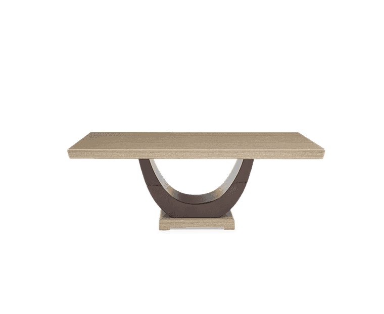 Mark Harris Rivilino 200cm Brown Marble Dining Table