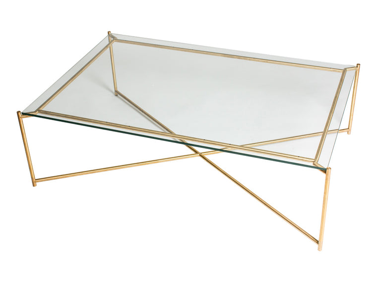 Gillmore Space Iris Rectangle Coffee Table Clear Glass Top