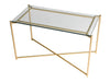 Gillmore Space Iris Rectangle Side Table Clear Glass Top