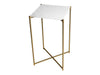 Gillmore Space Iris Square Plant Stand White Marble Top