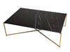Gillmore Space Iris Rectangle Coffee Table Black Marble Top
