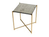 Gillmore Space Iris Square Side Table Antiqued Glass Top