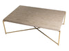 Gillmore Space Iris Rectangle Coffee Table Weathered Oak Top